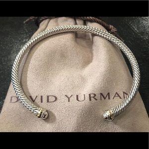 David Yurman 4mm Cable Classic Bracelet & 18k Gold